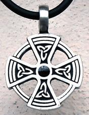 Iron Solar Cross Knot Norse Viking Asatru Triquetra Trinity Pewter Pendant