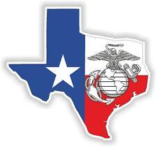 Texas Usmc Mapa Bandera Marina Sticker Silueta calcomanía Usa Militar autocollant coche