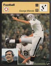 GEORGE BLANDA Oakland Raiders Kicker Football 1977 SPORTSCASTER CARD 02-04