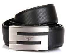 Septwolves Men Belt Real Cow Skin Genuine Leather Auto Lock Buckle Black 3411000