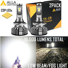Alla Lighting Super Slim Fit 9006 LED Headlight Fog Light Bright White Bulb Lamp