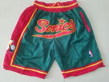 Seattle Sonics Retro Green Basketball Shorts Size: S-XXL