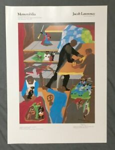 Jacob Lawrence Signed Exhibition Poster Memorabilia African American Artists ...