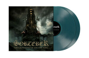 2 LP SORCERER - THE CROWNING OF THE FIRE KING - CLEAR TURQUOISE BLUE