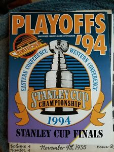 1994 VANCOUVER CANUCKS VS NEW YORK RANGERS STANLEY CUP FINALS MESSIER, BURE