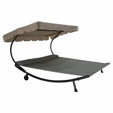 Hammock With Stand Shade Wheel Double Chaise Lounge Poolside Patio Lawn Loveseat