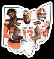 MAGNET Baker Mayfield OBJ Jarvis Landry Cleveland Browns Player Custom  NFL