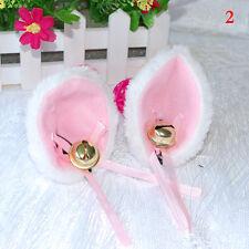 Cat Fox Long Fur Ears Neko Costume Hair Clip Halloween Cosplay Party New
