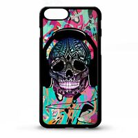 Skull DJ headphone music rave graphic graffiti street art phone case cover