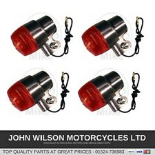 Honda CB350 CB350F CB360 New Polished Aluminium Front & Rear Indicators Set