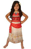 Deluxe Disney Moana Princess Fancy Dress Costume Kids Lovely Dress 2-10Y Girl's