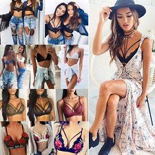 New Womens Lace Bralette Bralet Bra Bustier Ladies Crop Tops Cami Tank Tops Vest