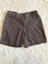 Ladies Mountain Equipment Company Coffee Brown Hiking Shorts Sz 16 MEC