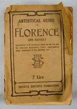 Artistical Guide To Florence Italy And District Antique Book Date 1923 (O) AS IS
