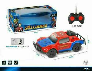 Kids RC Car Racing Spiderman Super Hero Car Speed Toy Remote Control 1:20 Gift