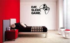 EAT SLEEP GAME VINYL WALL DECAL LETTERING DECOR STICKER GAMER GAME ROOM GAMER