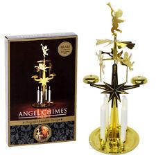 Swedish Christmas Angel Chimes - Original Swedish Design With 4 Candles - BRASS