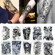 10 Unisex Large Temporary Tattoo Body Art Stickers Waterproof Tattoos Removable