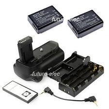 Battery Hand Grip For Canon EOS 1100D Rebel T3 KISS X50 1200D+2 LP-E10+AA Holder