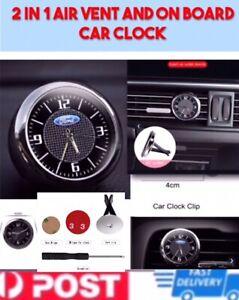 Car Dashboard Trim Clock Luminous Quartz Interior Accessory With Vent Clip Ford