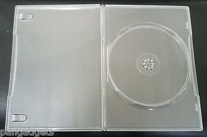 10 Genuine Clear Amaray Single DVD Cases