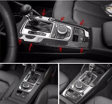 For Audi A3 8V 2012-15 Carbon Fiber Interior Console Gear Shift Panel Cover Trim