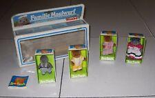 Lotto 4 bambole BEAR FAMILY SIMBA 2 talpe + 2 orsetti + box La famiglia Talpe