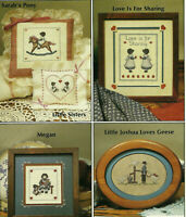 Amish & Country Blessed Be Thy Children Cross Stitch Pattern Leaflet 5 designs