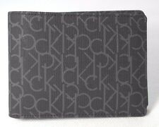 Calvin Klein 100% authentic 3 folds Wallet  Black Logo printed canvas