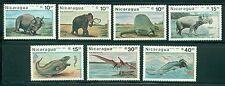 Nicaragua Scott #1617-1623 MNH Prehistoric Animals Fauna CV$5+