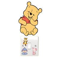 Winnie the Pooh luz Interruptor Pegatinas de Pared Dormitorio de los niños diversión Chicas'S