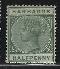 Barbados 1882 ½d Green Victoria Sc# 60 mint