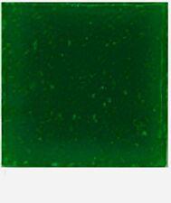 Glass Mosaic Tiles - 25 Tiles - 3/4 inch Fern Green Vitreous