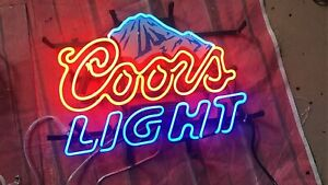 "New Coors Light Mountain Neon Light Sign Lamp 17""x14"" Beer Gift Bar Artwork"