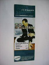 GIGI D'ALESSIO - BIGLIETTO INUTILIZZATO CONCERTO 27/01/03 MODENA