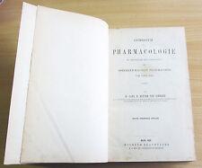 Schroff: Lehrbuch der Pharmacologie / Österreich. Pharmacopoe 1869. Wien 1868.