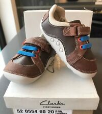 Clarks Tiny Myle Toddler Boys Rip-tape First Baby Shoes 3G BNIB