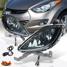 For 11-13 Hyundai Elantra 4-Dr Smoked Lens Front Bumper Fog Light/Lamp W/Switch