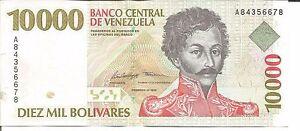 VENEZUELA 10000 BOLIVARES 1998  P 81. UNC CONDITION. 5RW 26AGO