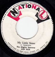 RARE 1965 CALYPSO 45~THE MIGHTY SPARROW~MY LITTLE SISTER~NATIONAL~VG++