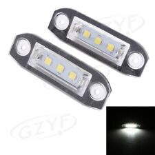 Pair LED License Plate Lights For VOLVO S80 S60 C70 V70 XC70 White Lamp