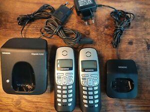 Siemens Gigaset A260 2er Set Haustelefon mit Ladestation Telefon Station AB