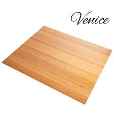 Venice Natural Bamboo Floor Roll-up Chairmat Floor Mat, 42'' X 48''