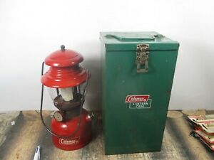 COLEMAN LANTERN 200 RED W / CASE  DATED. 2 - 69   NO RESERVE