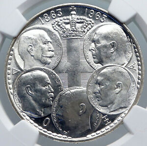 1963 GREECE PAUL GEORGE I II ALEXANDER CONSTANTINE Silver 30 Dr Coin NGC i89235
