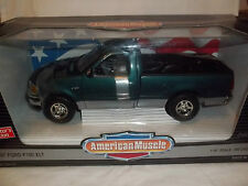 ERTL American Muscle 7224 1997 FORD F150 XLT incontrato VERDE 1/18 MINT & BOXED