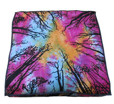 Forest Mandala Indian Big Square Floor Cushion Cover Dog Bed Pillow Case 35""