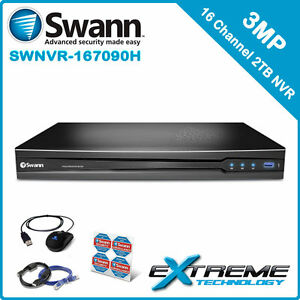 Swann NVR16-7090 16 Channel 3MP 2TB POE Network Video Recorder - SWNVR-167090H