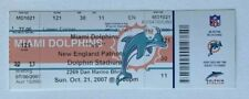 2007 New England Patriots Dolphins Ticket 10/21/07 Tom Brady 6 TDs Undefeated