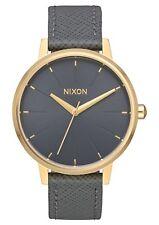 Nixon A108-2815 Kensington Leather Women's Watch Charcoal 37mm Stainless Steel